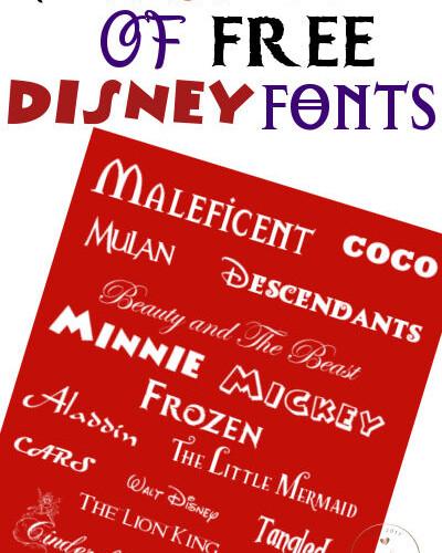 The Best List of Free Disney Fonts