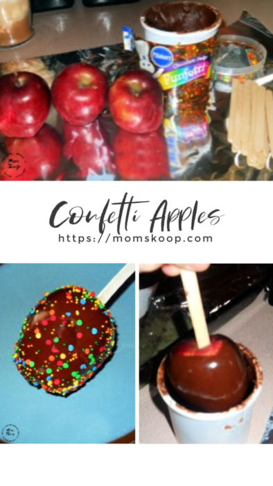 Confetti Apples, #leftoverfrosting #treatsmadewithfrosting #frosting #confettiapples #appletreats