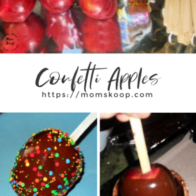 CONFETTI APPLES RECIPE WITH LEFTOVER FROSTING!
