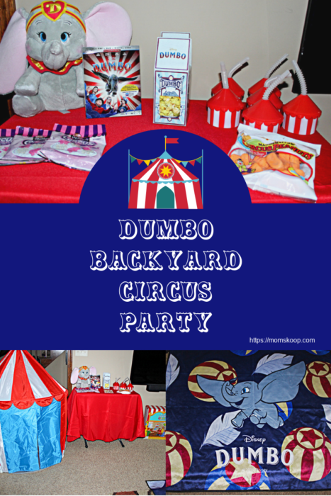 Dumbo Backyard Circus Party, How to set up a backyard circus party, Disney's Dumbo, Dumbo Party
