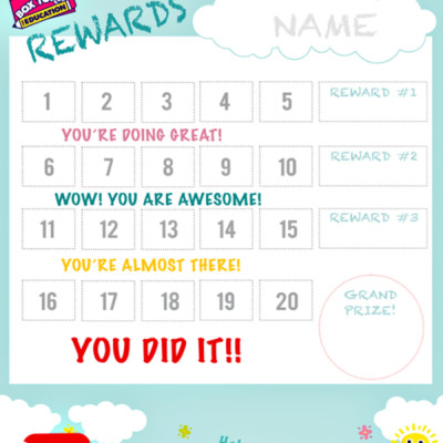 BOX TOPS REWARD CHART – FREE PRINTABLE