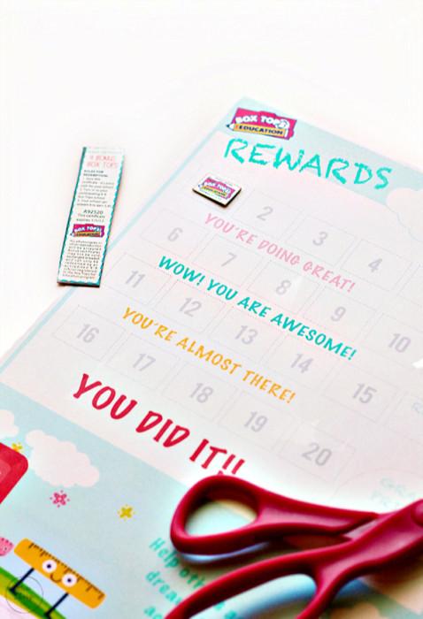 Box Tops Reward Chart