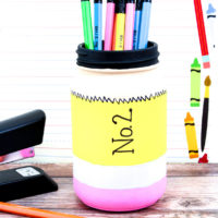 BACK TO SCHOOL PENCIL MASON JAR CRAFT