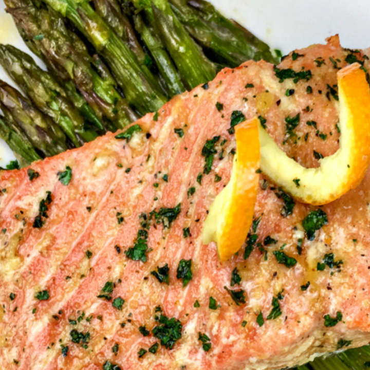 ORANGE-GLAZED SALMON - 30 MINUTE MEALS