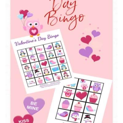 Valentine's Day Bingo – FREE Bingo Cards