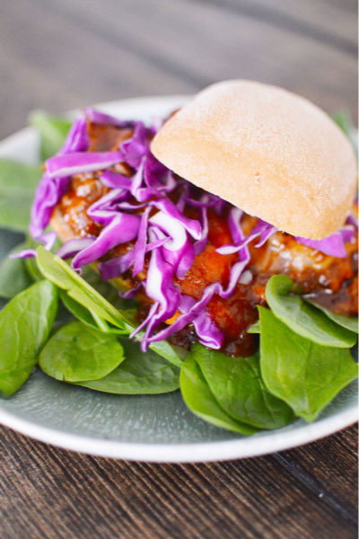 Slow Cooker Apple Cider Pulled Pork Sandwich