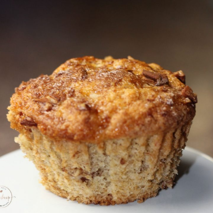 Easy Caramel Banana Muffins with Nuts!
