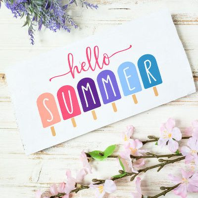 How to Make A Hello Summer Popsicle Plaque with your Cricut