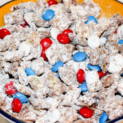 Patriotic Red White and Blue Puppy Chow