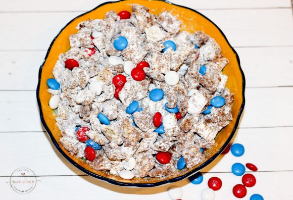 Red White and Blue Puppy Chow