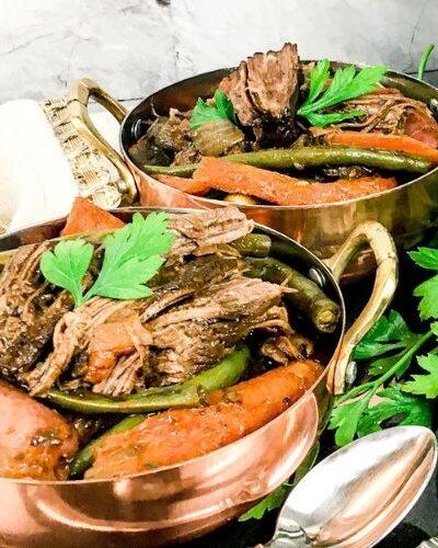 Juicy instant pot Pot Roast and Potatoes
